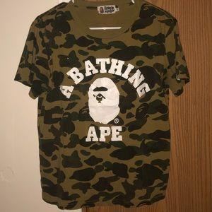 A Bathing Ape College Camo T-Shirt (UA), M